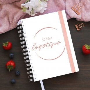 Notebook for orders for small business - Version one page for 2 orders (portuguese)