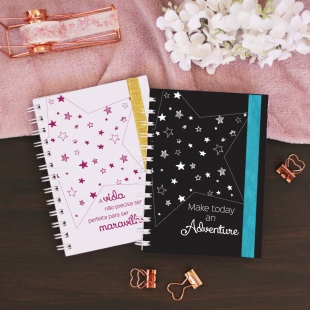 "Planner 2020 monthly view -  B6 size - ""estrela"" cover (Portuguese version)"