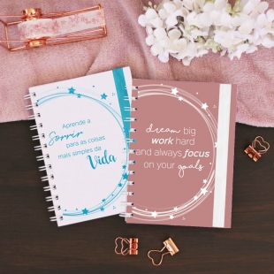 "Planner 19-20 | 2020 monthly view -  B6 size - ""luz"" cover (Portuguese version)"