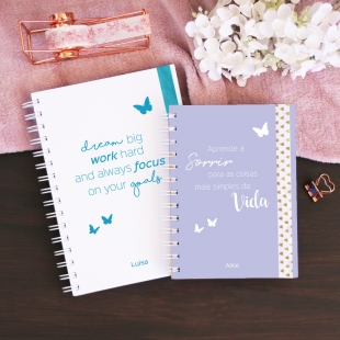 Notebook A5, B6 or A6 Borboletas - Hardcover