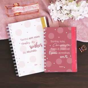Notebook PHRASES Elegante - B6 or A5 - Hardcover