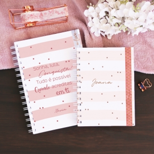 Notebook PHRASES Glamour - B6 or A5 - Hardcover