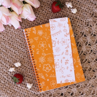 Spring Orange Flower Bookmarker