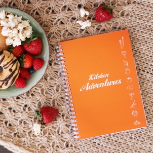 A5 Recipe Notebook - Kitchen Adventures Orange (English version)