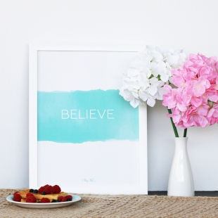 A3 Inspiration Believe Poster