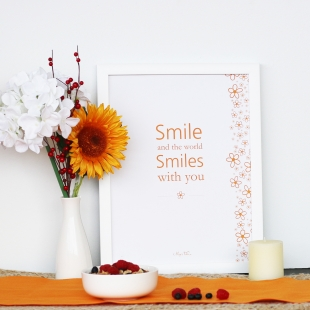 A3 Inspiration Smile Poster