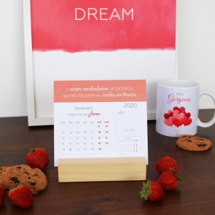 2020 Desk calendar - Inspiration COLORS