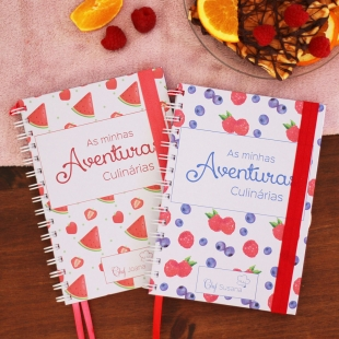 TRADITIONAL recipe notebook - Fruit pattern theme