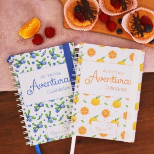 DESSERTS recipe notebook - Fruit pattern theme