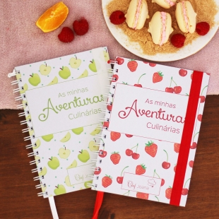 VEGETARIAN recipe notebook - Fruit pattern theme