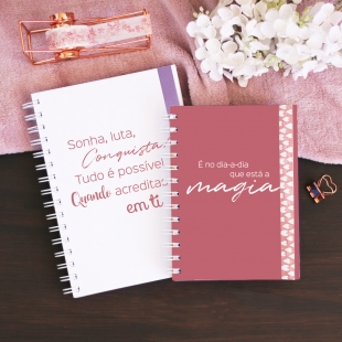 Notebook PHRASES Inspiration - B6 or A5 - Hardcover