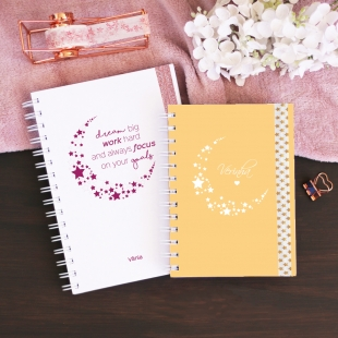 Notebook A5, B6 or A6 Lua - Hardcover