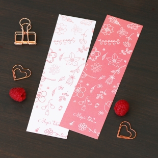 Spring Pink Flower Bookmarker