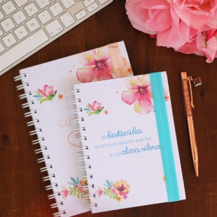 Notebook A5, B6 or A6 Flowers - Hardcover