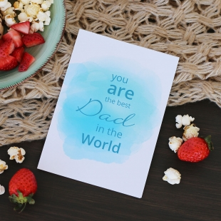 Best Dad in the World greeting card (ENG)