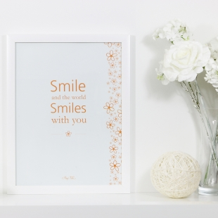 Inspiration Smile Poster