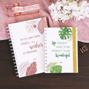 Notebook PHRASES Tropical - B6 or A5 - Hardcover