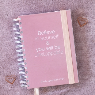 Planner 2018 daily view Believe B6 (Portuguese version)