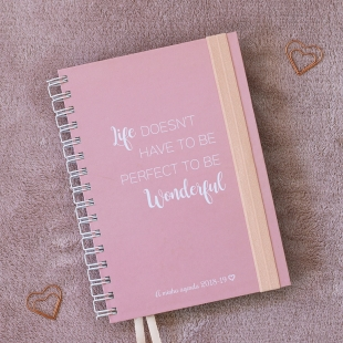 Planner 2018 daily view Wonderful B6 (Portuguese version)