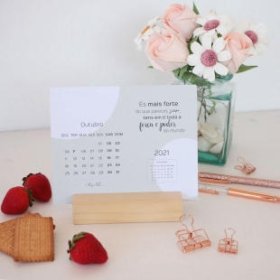 2021 Desk calendar - ELEGANTE Colors