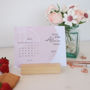 2021 Desk calendar - AURORA Pastel and pink