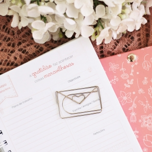 Envelope clip in silver - 1 unit