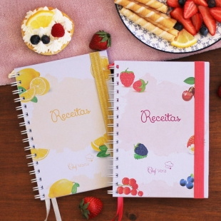 TRADITIONAL recipe notebook - fruit theme
