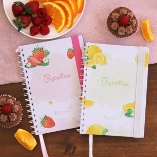 VEGETARIAN recipe notebook - fruit theme